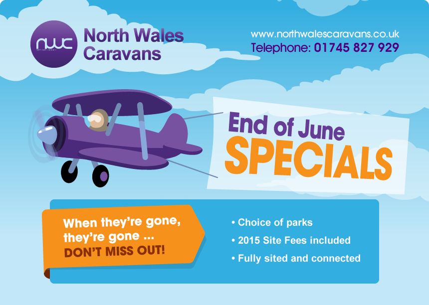 End of June Specials! Used Static Caravans for Sale in North Wales